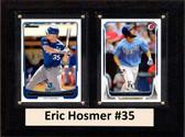 "MLB6""X8""Eric Hosmer Kansas City Royals Two Card Plaque"