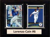 "MLB6""X8""Lorenzo Cain Kansas City Royals Two Card Plaque"