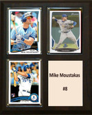 "MLB8""X10""Mike Moustakas Kansas City Royals Three Card Plaque"