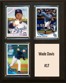 "MLB8""X10""Wade Davis Kansas City Royals Three Card Plaque"