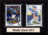 "MLB6""X8""Wade Davis Kansas City Royals Two Card Plaque"