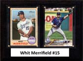 "MLB6""x8""Whit Merrifield Kansas City Royals Two Card Plaque"