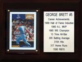 """MLB6""""X8""""George Brett Kansas City Royals Career Stat Plaque"""