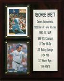 """MLB8""""X10""""George Brett Kansas City Royals Career Stat Plaque"""