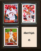 "MLB8""x10""Albert Pujols Los Angeles Angels Three Card Plaque"