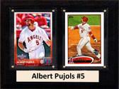 "MLB6""X8""Albert Pujols Los Angeles Angels Two Card Plaque"