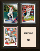 "MLB8""x10""Mike Trout Los Angeles Angels Three Card Plaque"