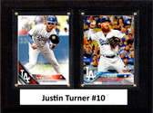 "MLB6""x8""Justin Turner Los Angeles Dodgers Two Card Plaque"