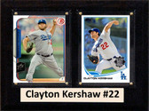 "MLB6""X8""Clayton Kershaw Los Angeles Dodgers Two Card Plaque"