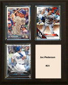 "MLB8""x10""Joc Pederson Los Angeles Dodgers Three Card Plaque"