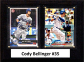 "MLB6""x8""Cody Bellinger Los Angeles Dodgers Two Card Plaque"