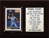"""MLB6""""X8""""Robin Yount Milwaukee Brewers Career Stat Plaque"""