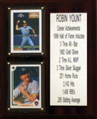 """MLB8""""X10""""Robin Yount Milwaukee Brewers Career Stat Plaque"""
