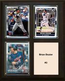 """MLB8""""x10""""Brian Dozier Minnesota Twins Three Card Plaque"""