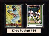 """MLB6""""X8""""Kirby Puckett Minnesota Twins Two Card Plaque"""