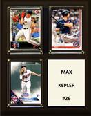 """MLB8""""x10""""Max Kepler Minnesota Twins Three Card Plaque"""