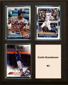 "MLB8""x10""Curtis Granderson New York Mets Three Card Plaque"