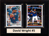 """MLB6""""X8""""David Wright New York Mets Two Card Plaque"""