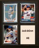 "MLB8""X10""Jacob deGrom New York Mets Three Card Plaque"