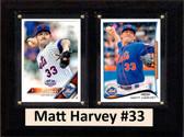 "MLB6""X8""Matt Harvey New York Mets Two Card Plaque"