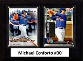 "MLB6""x8""Michael Conforto New York Mets Two Card Plaque"