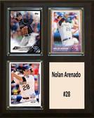 """MLB8""""x10""""Nolan Arenado Colorado Rockies Three Card Plaque"""
