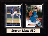 "MLB6""X8""Steven Matz New York Mets Two Card Plaque"