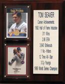 "MLB8""X10""Tom Seaver New York Mets Career Stat Plaque"