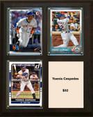 "MLB8""x10""Yoenis Cespedes New York Mets Three Card Plaque"