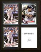 "MLB8""x10""Gary Sanchez New York Yankees Three Card Plaque"