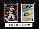 "MLB6""x8""Giancarlo Stanton New York Yankees Two Card Plaque"