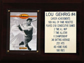 """MLB6""""X8""""Lou Gehrig New York Yankees Career Stat Plaque"""