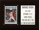 "MLB6""X8""Mariano Rivera New York Yankees Career Stat Plaque"