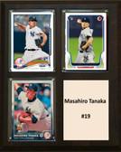 "MLB8""X10""Masahiro Tanaka New York Yankees Three Card Plaque"