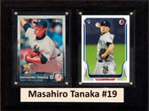"MLB6""X8""Masahiro Tanaka New York Yankees Two Card Plaque"