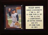 "MLB6""X8""Roger Maris New York Yankees Career Stat Plaque"