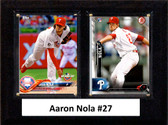 "MLB6""x8""Aaron Nola Philadelphia Phillies Two Card Plaque"