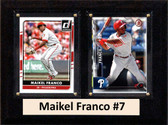 "MLB6""X8""Maikel Franco Philadelphia Phillies Two Card Plaque"