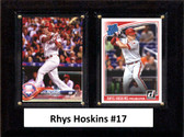 "MLB6""x8""Rhys Hoskins Philadelphia Phillies Two Card Plaque"