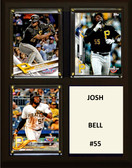 "MLB8""x10""Josh Bell Pittsburgh Pirates Three Card Plaque"