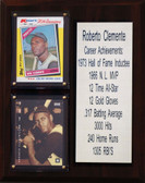 """MLB8""""X10""""Roberto Clemente Pittsburgh Pirates Career Stat Plaque"""