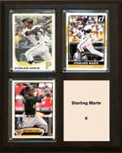 "MLB8""x10""Starling Marte Pittsburgh Pirates Three Card Plaque"