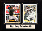 """MLB6""""X8""""Starling Marte Pittsburgh Pirates Two Card Plaque"""