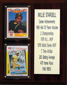 """MLB8""""X10""""Willie Stargell Pittsburgh Pirates Career Stat Plaque"""