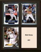 """MLB8""""x10""""Matt Kemp San Diego Padres Three Card Plaque"""