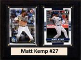 "MLB6""X8""Matt Kemp San Diego Padres Two Card Plaque"
