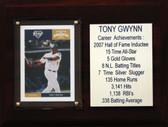 "MLB6""X8""Tony Gwynn San Diego Padres Career Stat Plaque"