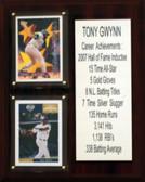 "MLB8""X10""Tony Gwynn San Diego Padres Career Stat Plaque"