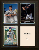 """MLB8""""x10""""Will Myers San Diego Padres Three Card Plaque"""