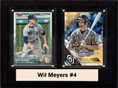 """MLB6""""X8""""Will Myers San Diego Padres Two Card Plaque"""